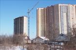 Застройка поселка Мурино на границе Санкт-Петербурга и Ленинградской области