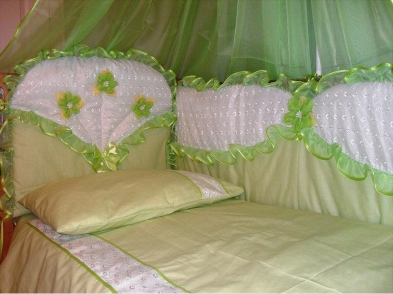 Комплект в кроватку для новорожденного сшить своими руками